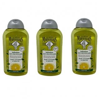 Le Petit Marseillais Antischuppen-Shampoo pflanzlichen Ölen 3 x 250 ml