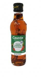 Cauvin Chili-Öl für Pizza, Pasta und zum Grillen - Huile Pimentée 250 ml Frankreich