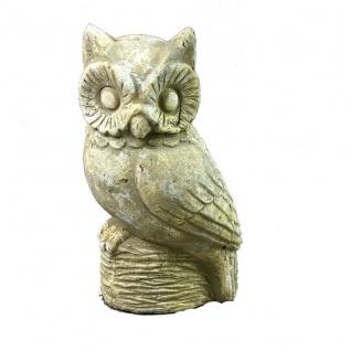 Deko Eule Skulptur im Vintage Style , Keramik 28 cm
