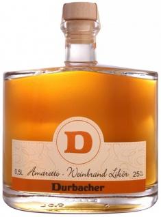 Durbacher Amaretto-Weinbrand Likör 25, 5% 0, 5 Liter