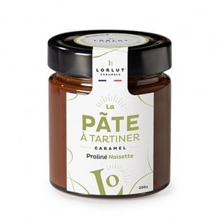 Lorlut Caramels Pâte à tartiner Caramel et Chocolat Praliné Noisette Karamell-Schoko-Aufstrich Nuss-Nougat
