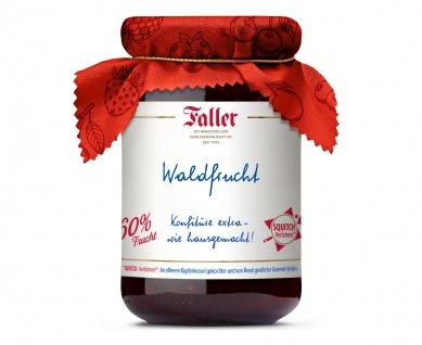 Marmelade aus dem Schwarzwald Faller Waldfrucht-Konfitüre extra hausgemacht! mit 60% Frucht 330 Gramm