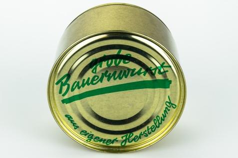Feine Heimat Hausmacher grobe Bauernwurst aus dem Schwarzwald 400 Gramm Dose