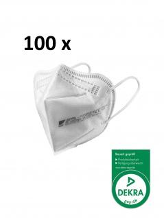 ZETTL FUTURUS-O 100 x FFP2 Maske Zertifiziert nach EN 149:2001+A1:2009 Durch DEKRA CE 0158 Ohrband
