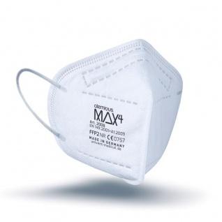 atemious MAX4 Komfort Vlies FFP2 Atemschutzmaske Made in Germany mit ift Rosenheim Zertifikat lose oder einzeln verpackt