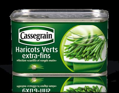 Cassegrain Grüne Bohnen extra fein Haricots Verts extra-fins 706 Gramm