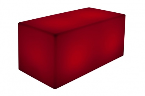 Luminatos QUADER 120, LED Bank 120 x 40 x 40 cm beleuchtet Farbwechsel Fernbedienung Akku Betrieb