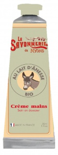 La Savonnerie De Nyons BIO Handcreme mit Eselsmilch Crème Mains au lait d'ânesse 30 ml
