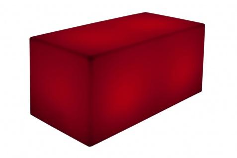 Luminatos QUADER 100, LED Bank 100 x 50 x 50 cm beleuchtet Farbwechsel Fernbedienung Akku Betrieb