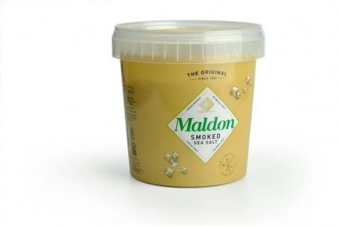 Maldon Sea Salt reine und geräucherte Meersalz Flocken, 500g Eimer
