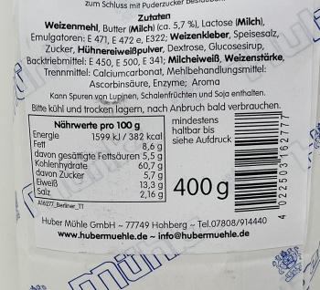 Huber Mühle aus dem Schwarzwald Berliner und Donuts Backmischung 400 Gramm - Vorschau 4