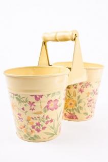 Doppelkörbchen Blumentopf aus Zinkblech - Vorschau 2