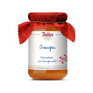 Marmelade aus dem Schwarzwald Faller Orangen Marmelade extra wie hausgemacht! mit 60% Frucht 330 Gramm