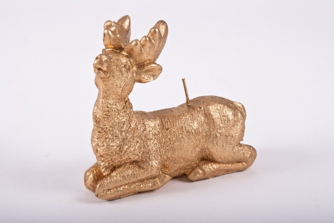 Kerze in Form eines goldenen Hirsches im 4er Set - Vorschau 2