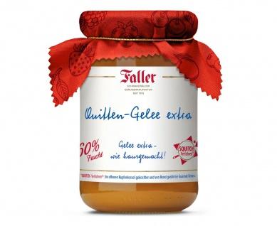 Marmelade aus dem Schwarzwald Faller Quitten-Gelee extra wie hausgemacht! mit 60% Frucht 330 Gramm