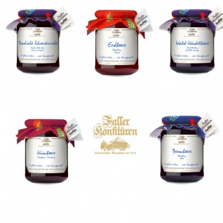 Marmelade aus dem Schwarzwald Faller 5er Set verschiedene Sorten
