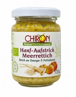 CHIRON Naturdelikatessen Bio Hanf-Aufstrich Meerrettich-Apfel kbA 135 g