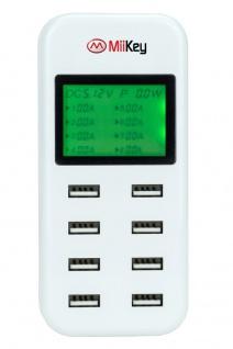 Miikey UL8 USB Ladestation 8 fach mit LED Anzeige für Stromaufnahme