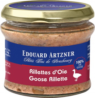Edouard Artzner Gänse Rillette 100% Gänsefleisch 170 Gramm Glas