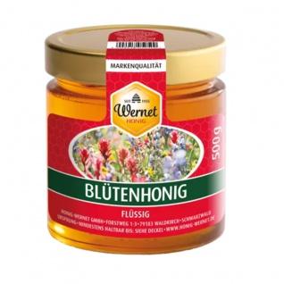 Honig Wernet Traditionsimker im Schwarzwald Deutscher Blütenhonig im 500 g Glas