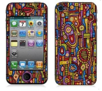 """BODINO Designer Super Skin für iPhone 4 / 4S by Ulrike Vater """" ORGANIC PATTERN"""""""