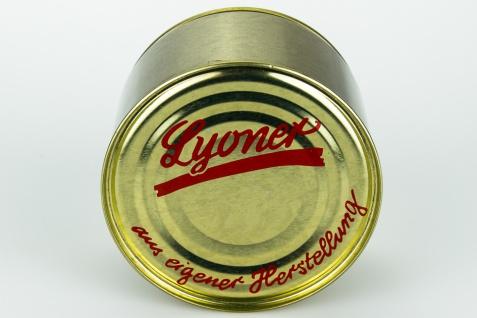 Feine Heimat Hausmacher Lyoner aus dem Schwarzwald 400 Gramm Dose