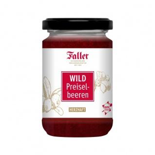 Marmelade aus dem Schwarzwald Faller Wildpreiselbeeren Konfitüre extra wie hausgemacht! 330 gramm