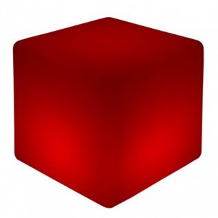 Luminatos 9 LED Cube / Hocker 60 cm beleuchtet mit Farbwechsel Fernbedienung Sitzwürfel
