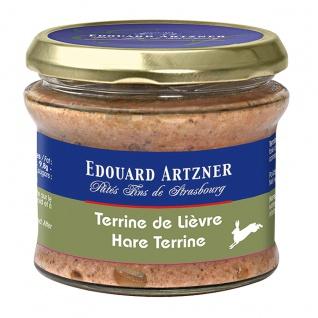 Edouard Artzner Hasenterrine mit Pinot Noir, 180 Gramm
