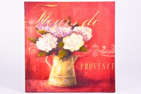 """Bild """" Fleurs"""", Kunstdruck auf Leinwand, auf Keilrahmen aufgezogen - Vorschau"""