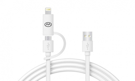 MiiKey Kabel Miiwire Kombiniertes Lightning- und Mikro-USB-Kabel