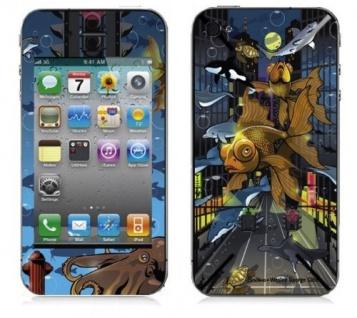 """BODINO Designer Super Skin für iPhone 4 / 4S by Wesley George Gibs """" CROSSTOWN TRAFFIC"""""""