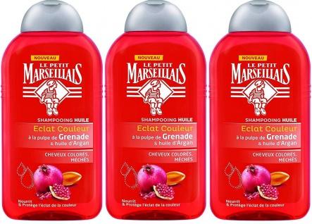 Le Petit Marseillais Shampoo mit Granatapfel & Arganöl für gefärbtes Haar 3 x 250 ml