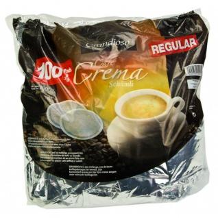 100 Kaffeepads im Megapack Eurocafe Grandioso Café Crema Schümli einzeln aromaversiegelt