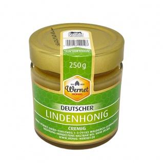 Honig Wernet Traditionsimker im Schwarzwald Deutscher Lindenhonig cremig im 250g Glas