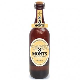 3 Monts Bière de Flandre helles obergähriges Starkbier 0, 75 Ltr. 8, 5% mit Sektkorken