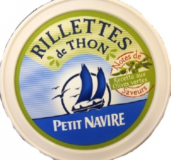 Petit Navire - Rillettes de Thon Recette aux Olives vertes 125g