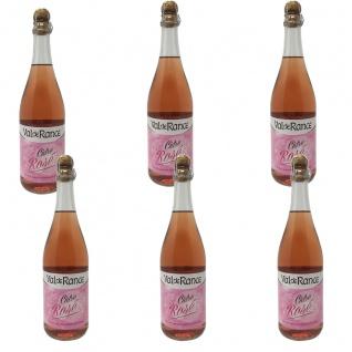 Val de Rance Cidre de Bretagne Rosé Apfelwein aus Frankreich 6 x 0, 75 Liter