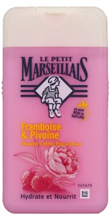 Le Petit Marseillais Duschgel mit Himbeere und Pfingstrose 250 ml aus Frankreich