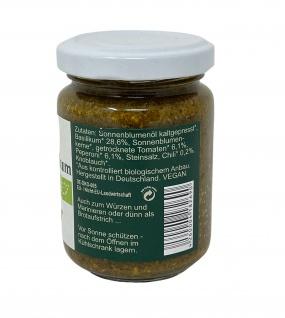 CHIRON Naturdelikatessen Bio Pikantes-Basilikum Pesto kbA 140 g Glas - Vorschau 2