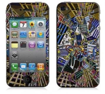 """BODINO Designer Super Skin für iPhone 4 / 4S by Georg Buhl """" NETWORK"""""""