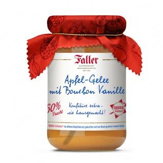 Marmelade aus dem Schwarzwald Faller Apfel-Gelee mit Original Bourbon Vanille 330 Gramm
