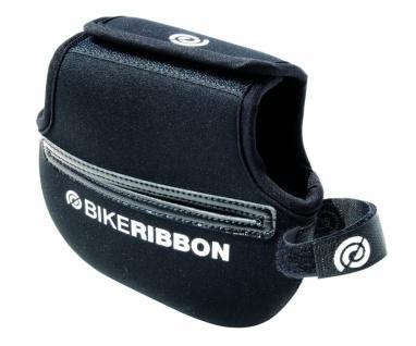 BikeRibbon POCKET Oberrohr-Rahmen-Tasche Polyester, Klettverschluß, schwarz