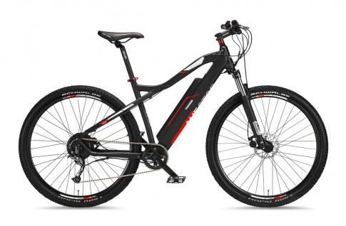 Telefunken MTB E-Bike M920 29 Zoll Lange Reichweite 250 Watt Anthrazit Rot