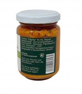 CHIRON Naturdelikatessen Bio Paprika Pesto kbA 140 Gramm Glas - Vorschau 2