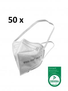 ZETTL FUTURUS 50 x FFP2 Maske Zertifiziert nach EN 149:2001+A1:2009 Durch DEKRA CE 0158 Kopfband