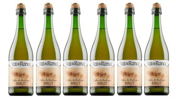Val de Rance Cidre de Bretagne Brut Apfelwein aus Frankreich 6 x 0, 75 Liter