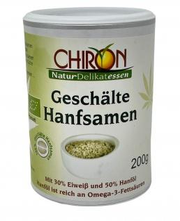 CHIRON Naturdelikatessen Bio Hanfsamen 200 Gramm Dose