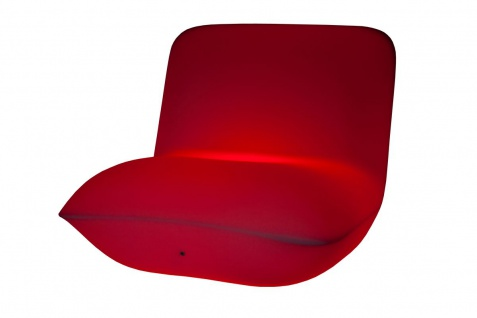 Luminatos HAMBURG, LED Sessel beleuchtet mit Farbwechsel Fernbedienung Akku Betrieb Leuchtsessel