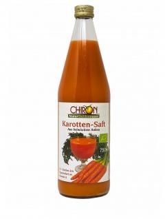 CHIRON Naturdelikatessen Bio Karotten-Saft kbA 750 ml aus heimischen Anbau
